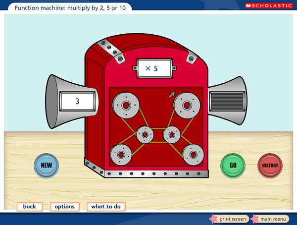 interactive function machine